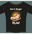 Shoe Design on Black T-Shirt vector image