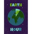 Earht hour vector image