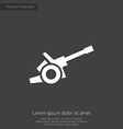 cannon premium icon vector image