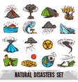 Natural Disasters Color Set vector image