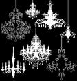 Chandeliers vector image