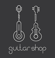 guitar shop vector image vector image