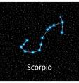 Scorpio Zodiac sign bright stars vector image