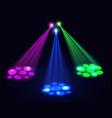 Club lights background spotlights effect vector image