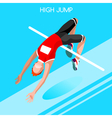 Athletics Jump 2016 Summer Games Isometric 3D vector image vector image