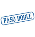 paso doble square blue grunge vintage isolated vector image