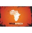 Africa logo Wild africa design Africa poster vector image