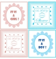 Baby shower invitation cards set vector image