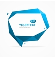 Bubble Speech Banner Card vector image