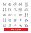 friendship relationship partnershipunity vector image