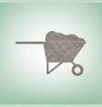 garden wheelbarrow sign vector image
