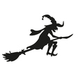 Halloween witch Silhouette Isolated vector image