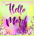 hello march quote vector image