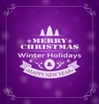 Merry Christmas Wishes Typography Design vector image