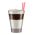 Mug of layered caffe latte vector image