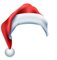 red hat santa isolated on white background vector image