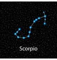 Scorpio Zodiac sign bright stars vector image
