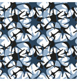 Seamless stars shape pattern hand drawn watercolor vector image