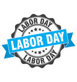 Labor day stamp sign seal vector image