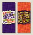 banners for christmas vector image
