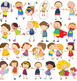 Children actions vector image