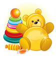 toys and teddy bear vector image vector image