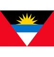 antiguan and barbudan flag vector image