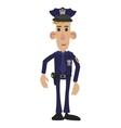 Police man cartoon vector image