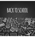 School tools sketch horizontal vector image