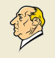 Big nose With Low Dome Face vector image vector image