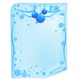 Christmas list in blue vector image