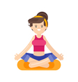 flat style of woman doing yoga vector image