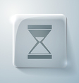 Glass square icon hourglass waiting vector image