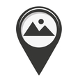 pin marker location icon vector image