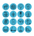 set of energy and ecology line icons vector image