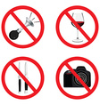 Set of no sign vector image
