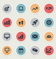 Set of simple startup icons vector image