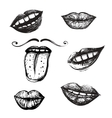 Smile and Mouth Drawing Collection vector image