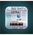 square newspaper xxl icon vector image