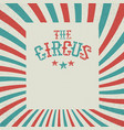 vintage circus festival background red and green vector image
