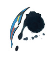 Watercolor feather vector image