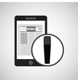smartphone digital news online design vector image