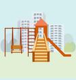 kids playground moden vector image
