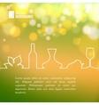 Style line design of vine vector image