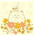 Cat funny vector image