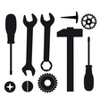 a set of tools vector image