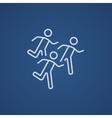 Running men line icon vector image