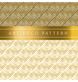 white and gold seamless pattern in ar deco style vector image