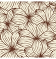 Seamless texture of abstract flowers vector image
