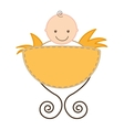 cute baby crib isolated vector image